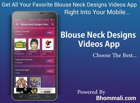 Blouse Neck Designs Videos App poster