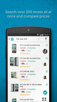 Online shopping: Price comparison app poster