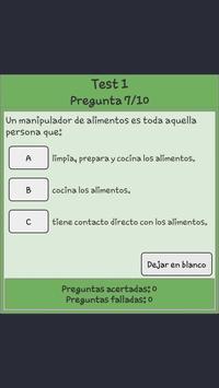 Manipulador De Alimentos Test apk screenshot