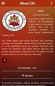 Civil Service Club poster