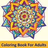 Adult Free Coloring Book : Adult Coloring Book App icon