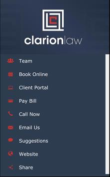 Clarion Law poster