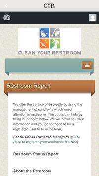 Clean Your Restroom poster