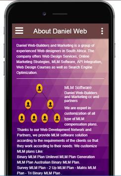 Daniel Web - Web Design  - MLM Software - MLM Web screenshot 1