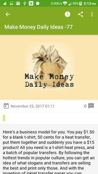 Make Money Daily Ideas screenshot 1