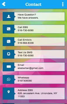 EBS BARBER SHOP apk screenshot