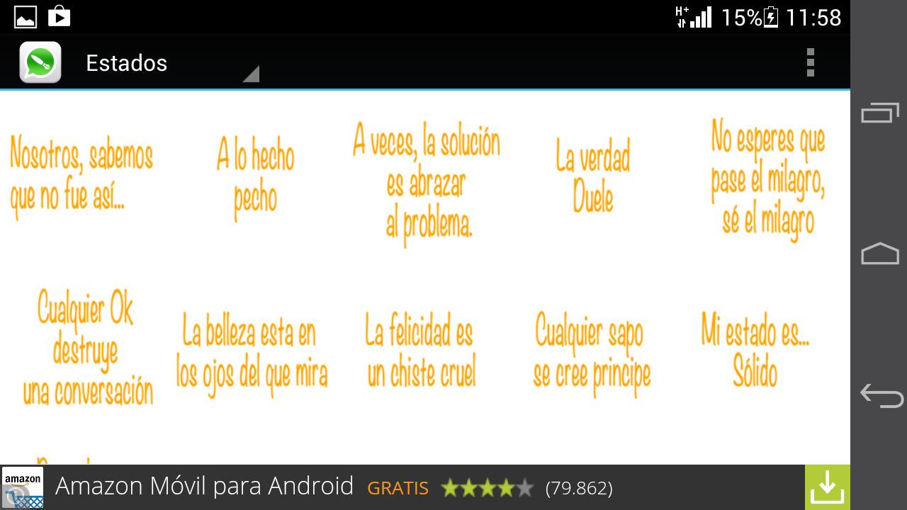 Estados Y Frases Para Whatsapp для андроид скачать Apk