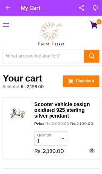 Flaunt Basket - Online Designer Silver Jewellery screenshot 3