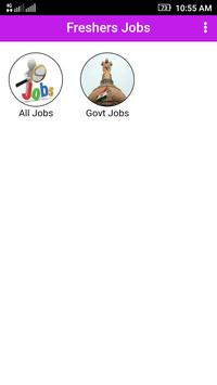 Freshers Job poster