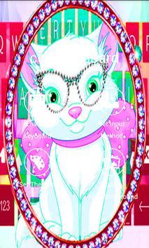 Diamond Cute Cat Keyboard Theme poster