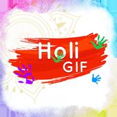Holi GIF icon