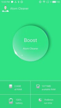 Atom Cleaner(Mobile Booster) poster