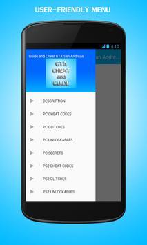 Guide & Cheat GTA San Andreas apk imagem de tela