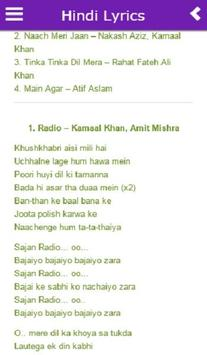 Hindi Lyrics of Bollywood Songs screenshot 1