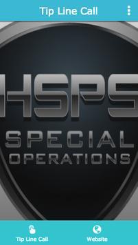 HSPS TIP LINE poster
