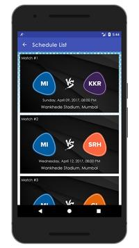 Schedule & Info of MI Team apk screenshot