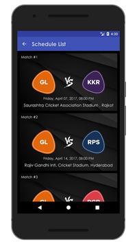 Schedule & Info of GL Team apk screenshot