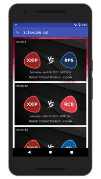 Schedule & Info of KXIP Team apk screenshot