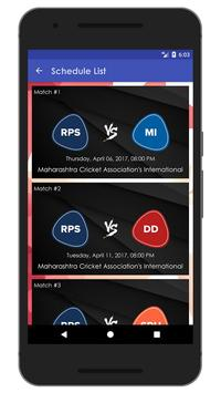Schedule & Info of RPS Team apk screenshot