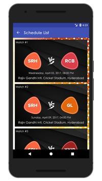 Schedule & Info of SRH Team apk screenshot