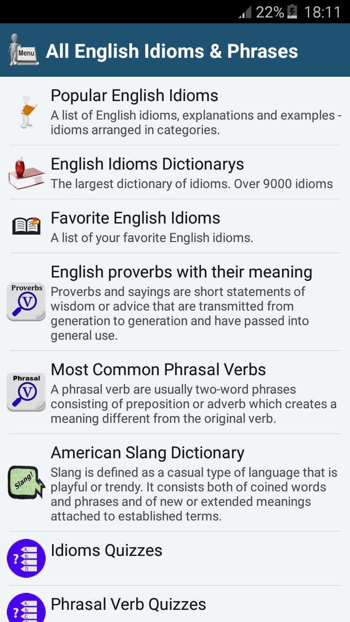 All English Idioms & Proverbs for Android - APK Download