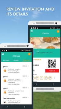 JIOness Social Meal Invitation apk screenshot