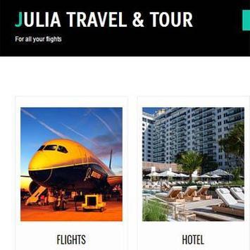 -.julia travel tour.- poster