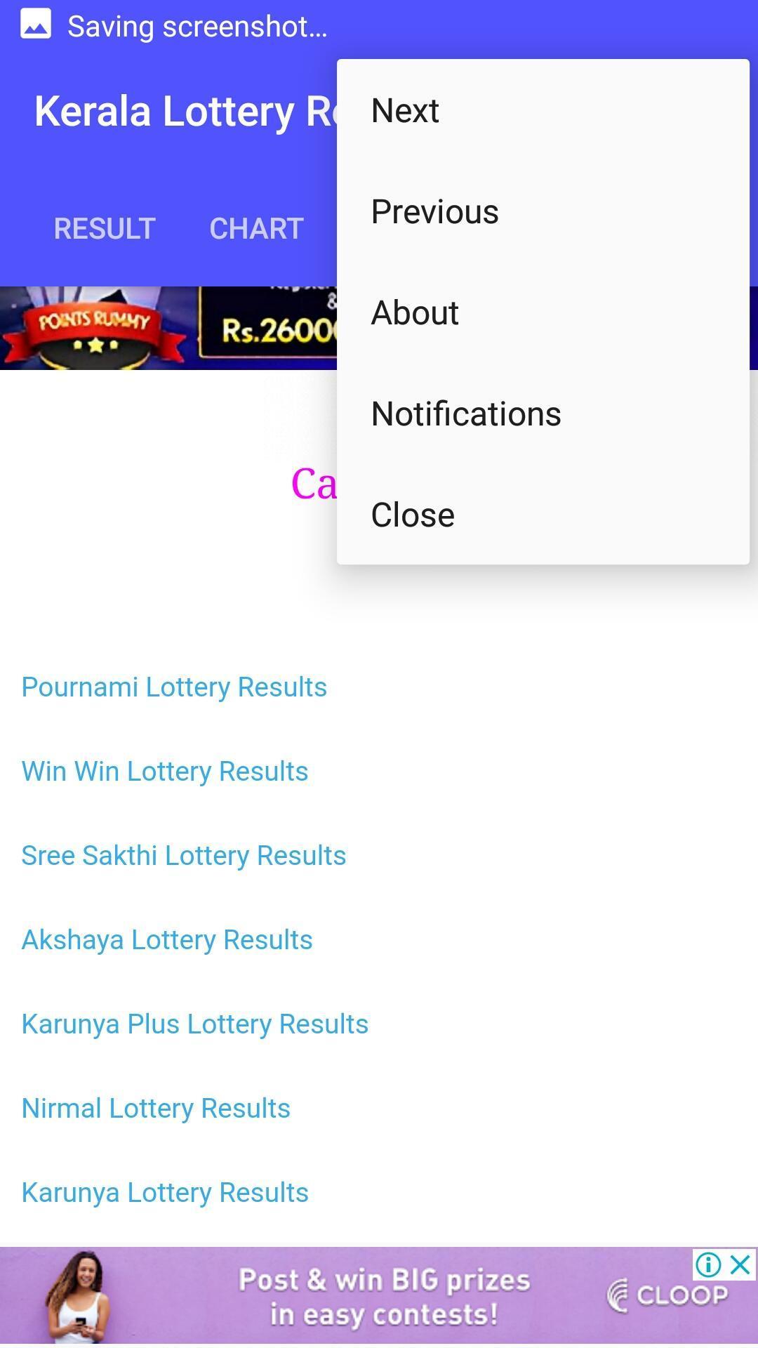 Kerala Lottery Chart 2019 Weekly