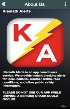 Klamath Alerts apk screenshot