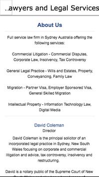 Lawyers and Legal Services apk screenshot