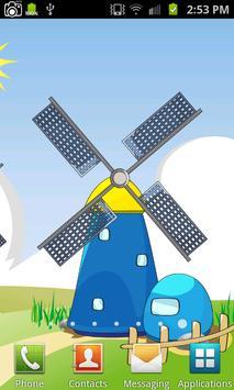 Cartoon Windmill LiveWallpaper poster