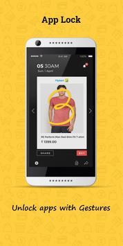 Gesture Applock with your photo - selfie 2.0 poster