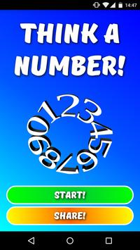 Think a number! poster