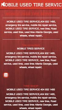 MOBILE USED TIRE SERVICE apk screenshot