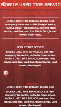 MOBILE USED TIRE SERVICE poster