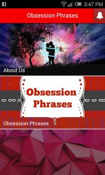 Obsession Phrases poster