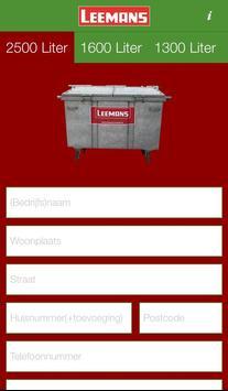 Leemans Afval & Reiniging poster