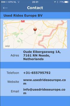Used Rides Europe apk screenshot