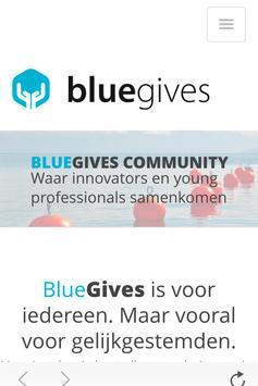BlueGives poster