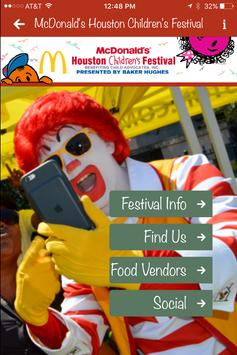 Houston Children's Festival poster
