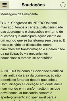 XXXIX Congresso Intercom apk screenshot