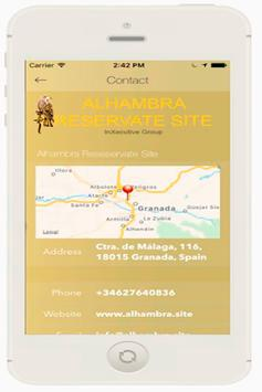 Alhambra Reservate Site screenshot 1