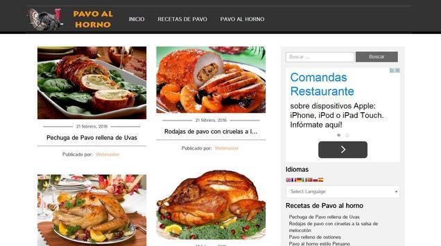 Pavo al Horno apk screenshot