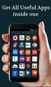 PolyNeed - All in one App poster