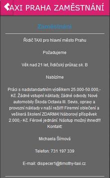 TAXI PRAHA NÁBOR ŘIDIČŮ poster