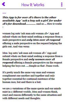 ask man ask woman 18+ screenshot 2