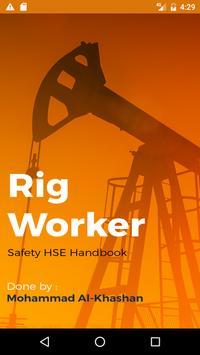 Rig Worker Safety Handbook poster
