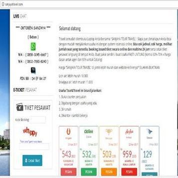 .Sanjaya Travel apk screenshot