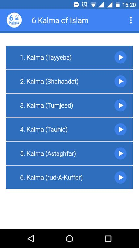 6 Kalma Of Islam For Android Apk Download