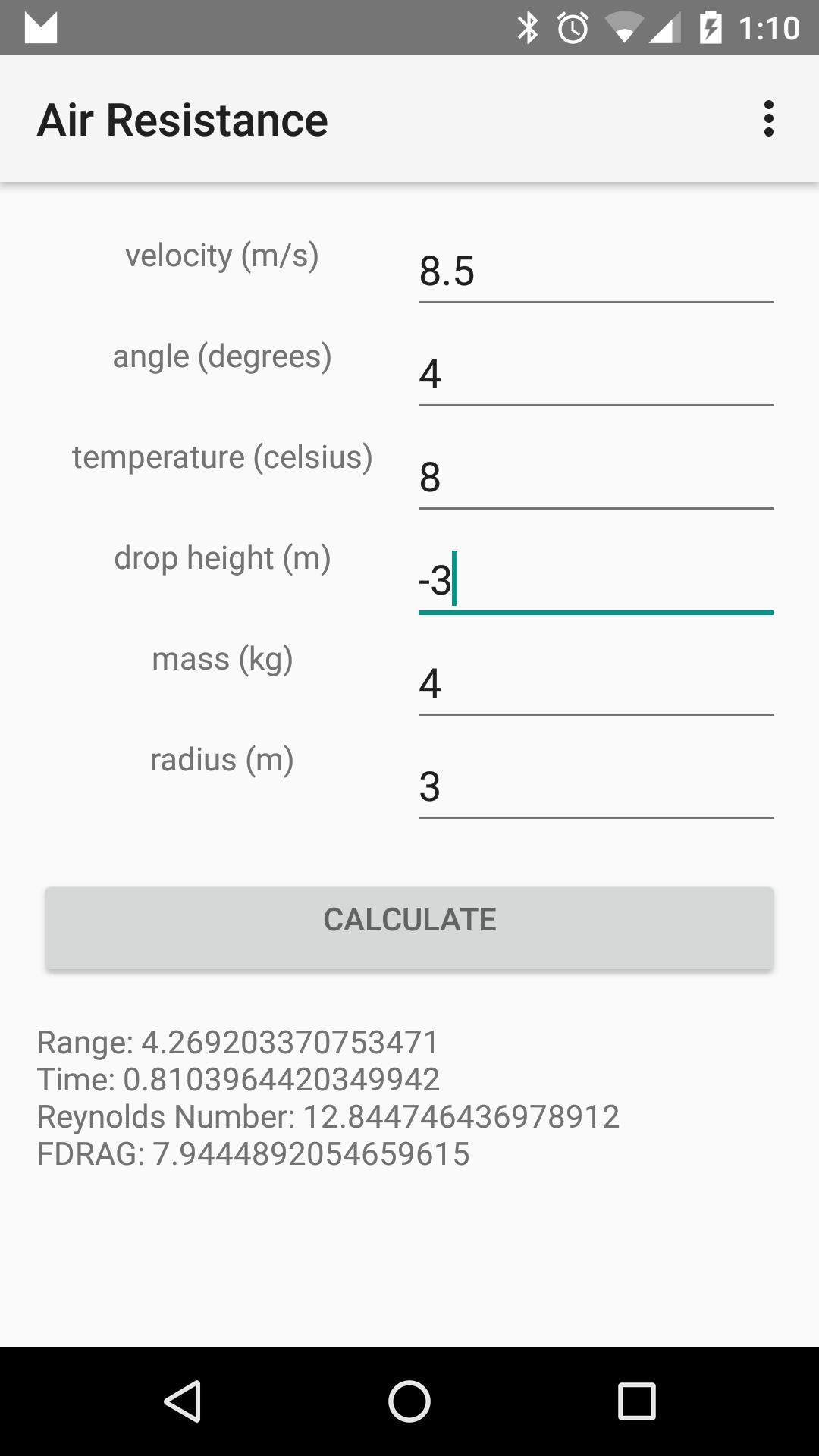 Air Resistance Calculator for Android - APK Download